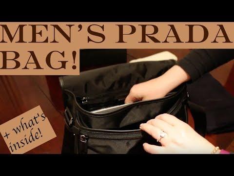 Men's Prada Bag Unboxing + What's inside - Best Messenger Bag 2017 HD
