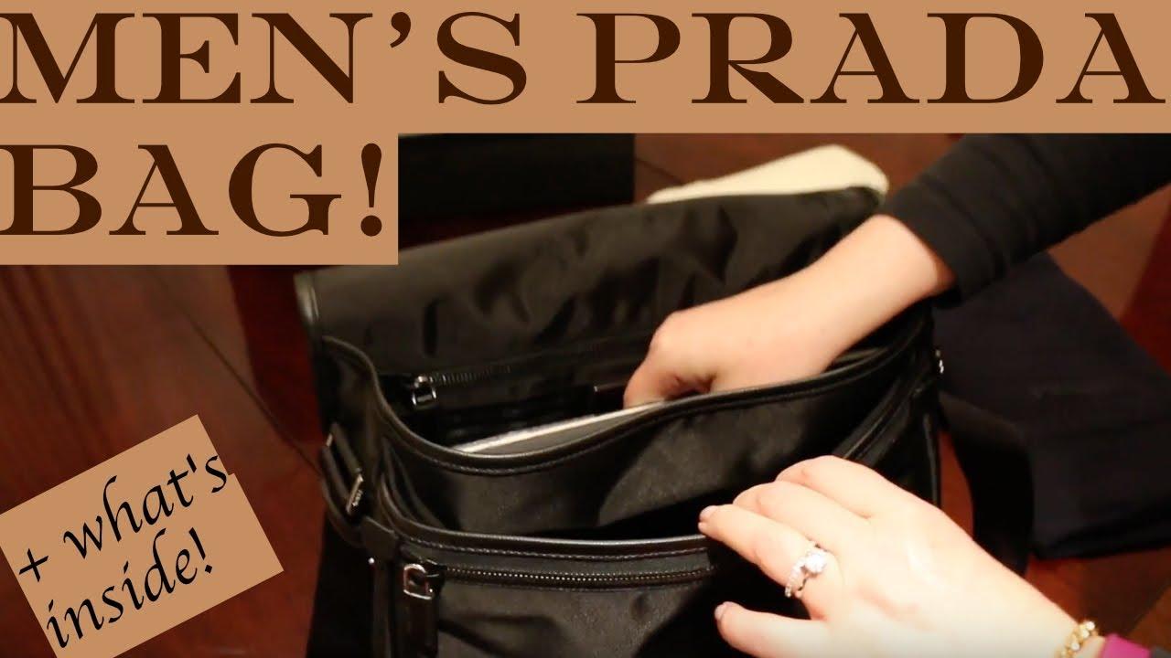 3cafdce95bcb3d Men's Prada Bag Unboxing + What's inside - Best Messenger Bag 2017 ...