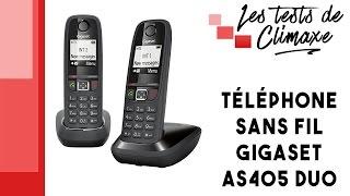 Test d'un téléphone portatif Gigaset AS405 Duo