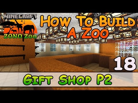 Zoo In Minecraft Gift Shop P2 How To Build E18 Z One N Only Youtube