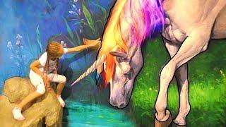 Juega al escondite Pretende el juego en el museo para niños Divertido juego en familia