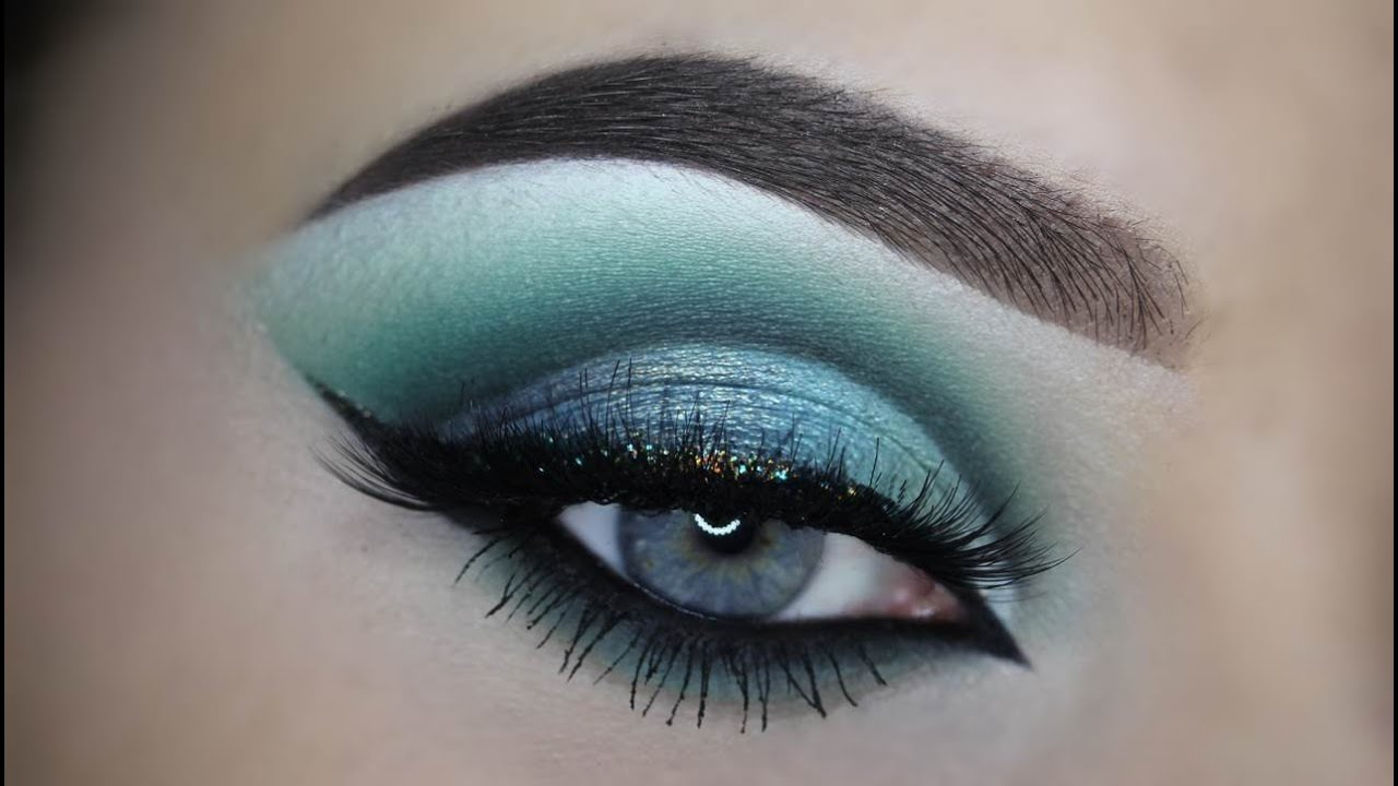 Turquoise Cutcrease Makeup Tutorial Makeupbyan Youtube