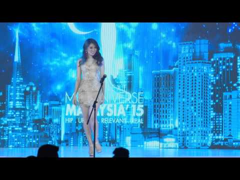 The Next Miss Universe Malaysia 2015 Gala Night 17 Finalist Opening Introduction