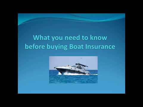 What You Need To Know Before Buying Boat Insurance