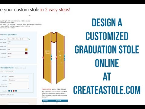 How To Create Your Graduation Stole Online - YouTube