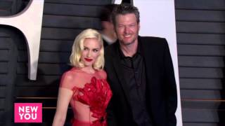 Blake shelton and gwen stefani held nothing back when they stepped out together at the vanity fair oscars party in beverly hills. kept his look casual,...