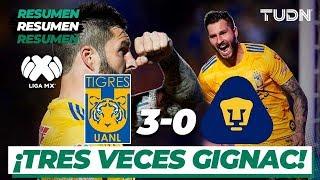 Resumen y goles | Tigres 3 - 0 Pumas | Liga Mx CL 2020 - J8 | TUDN