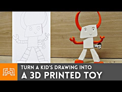 Turning a drawing into a toy using 3d printing!