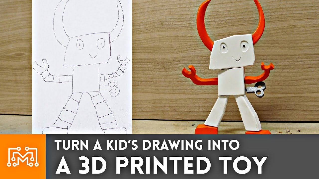 Turning A Drawing Into A Toy Using 3d Printing