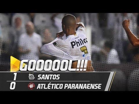 Santos 1 x 0 Atlético Paranaense | GOL | Brasileirão (30/09/18)