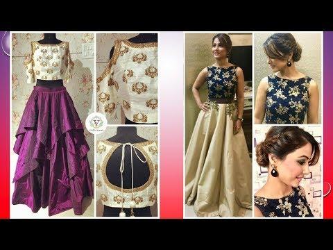 Latest Crop Top Dress Designs 2018