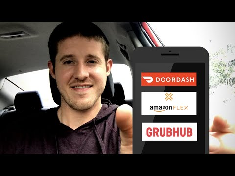 Multi App GrubHub + DoorDash + Amazon Flex At The SAME TIME! How Much I MADE!