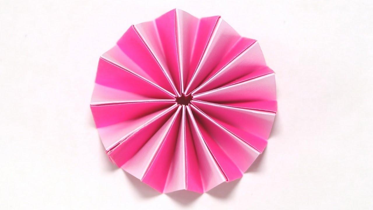 Accordion Paper Flower I Easy I Diy I Craft I Tutorial I Youtube