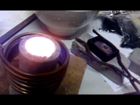 Gold & Copper melted with DIY Induction Heater