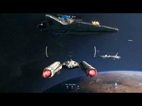 Destroying the Droid Control Ship   Star Wars Battlefront 2 (4K)