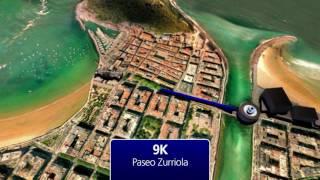 21K of Zurich Marathon of San Sebastián - 3D track