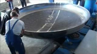 Industrial steel vessel head