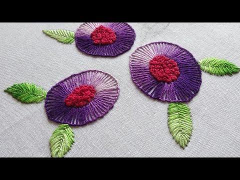 Blanket Stitch Flower | Hand Embroidery Flower Design