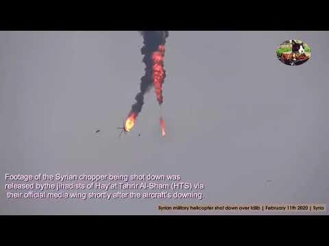 Над Идлибом сбит вертолёт Сирийских ВВС