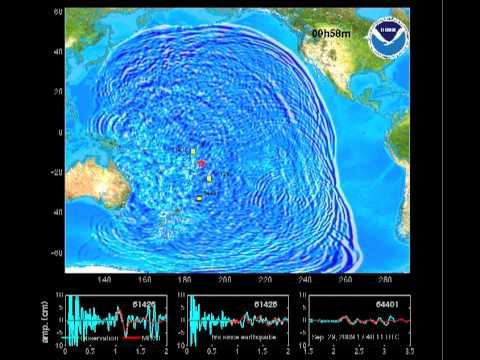 NOAA Samoa Tsunami Wave Animation