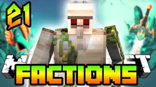 Minecraft Treasure Wars Factions 'IRON GOLEM GRINDER!' Episode 21 (Minecraft Factions)