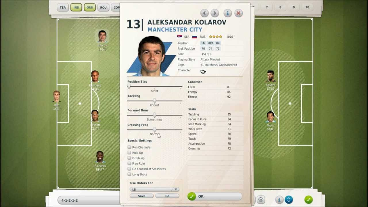 Let S Play Fifa Manager 12 Part 17 Complex Tactics Training W Manchester City