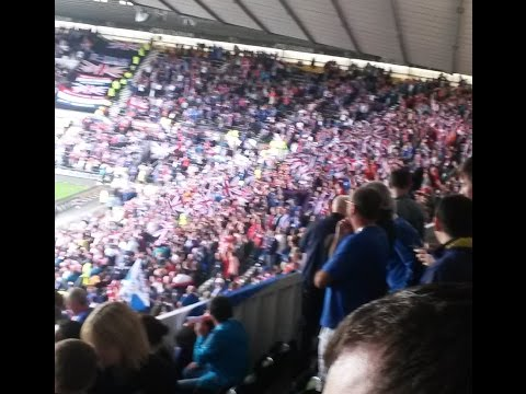 Rangers Fans v Derby - Build My Gallows
