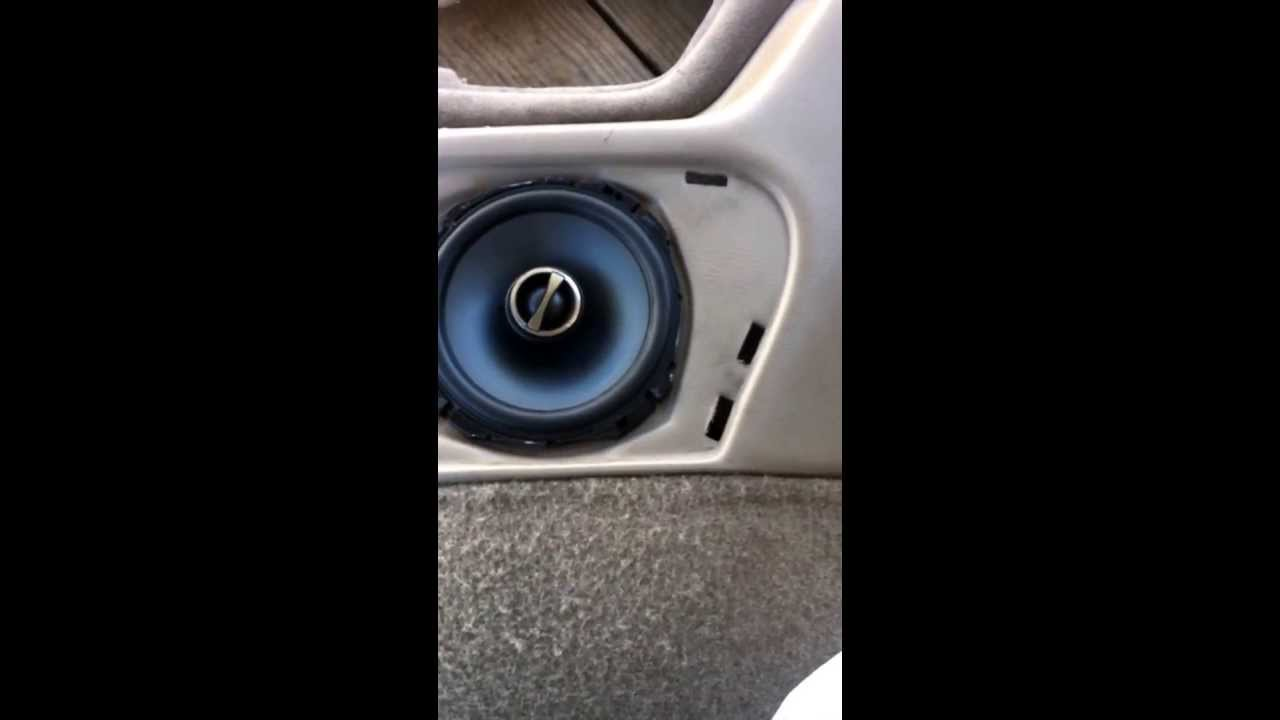 Chevy Tahoe Rear Speakers Mod Youtube