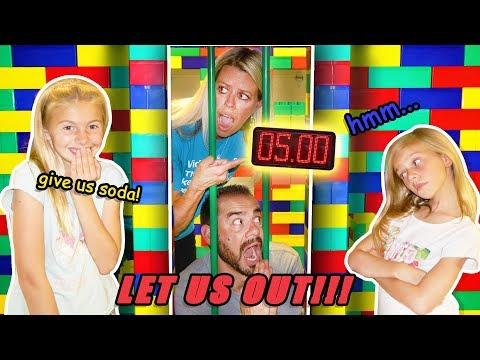 PARENTS Only GIANT LEGO Escape Room FORT! CLUE Giver Gets SODA! |