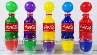 Learn Colors with Coca cola bottle Paint & Car toys & Super wings Toys