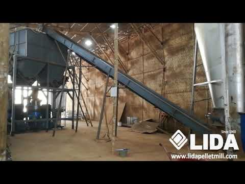 Testing wood pellet mill in customer's factory in Indonesia