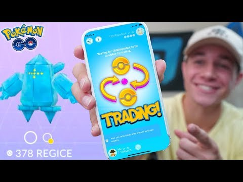 "TRADING IS LIVE! + NEW LEGENDARY ""REGICE"" in Pokémon GO! ❄️ THE REGI TRIO IS HERE!"