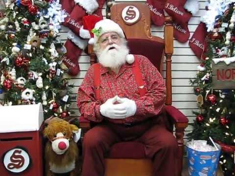 Santa Claus - at North Pole Alaska Wishing Merry Christmas to ...