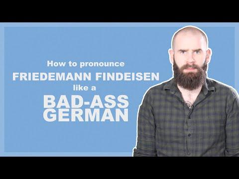 Pronouncing Friedemann Findeisen like a Bad-Ass German   April Fools 2020