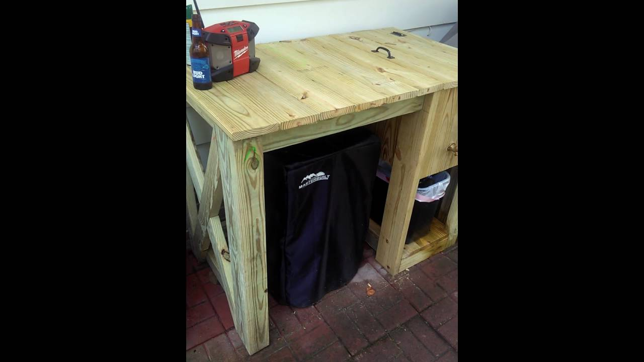 Masterbuilt Smoker Table W Built In Cooler Youtube