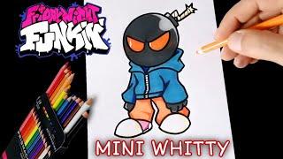 COMO DIBUJAR A MINI WHITTY DE FRIDAY NIGHT FUNKIN   PASO A PASO   how to draw fnf mini whitty   easy