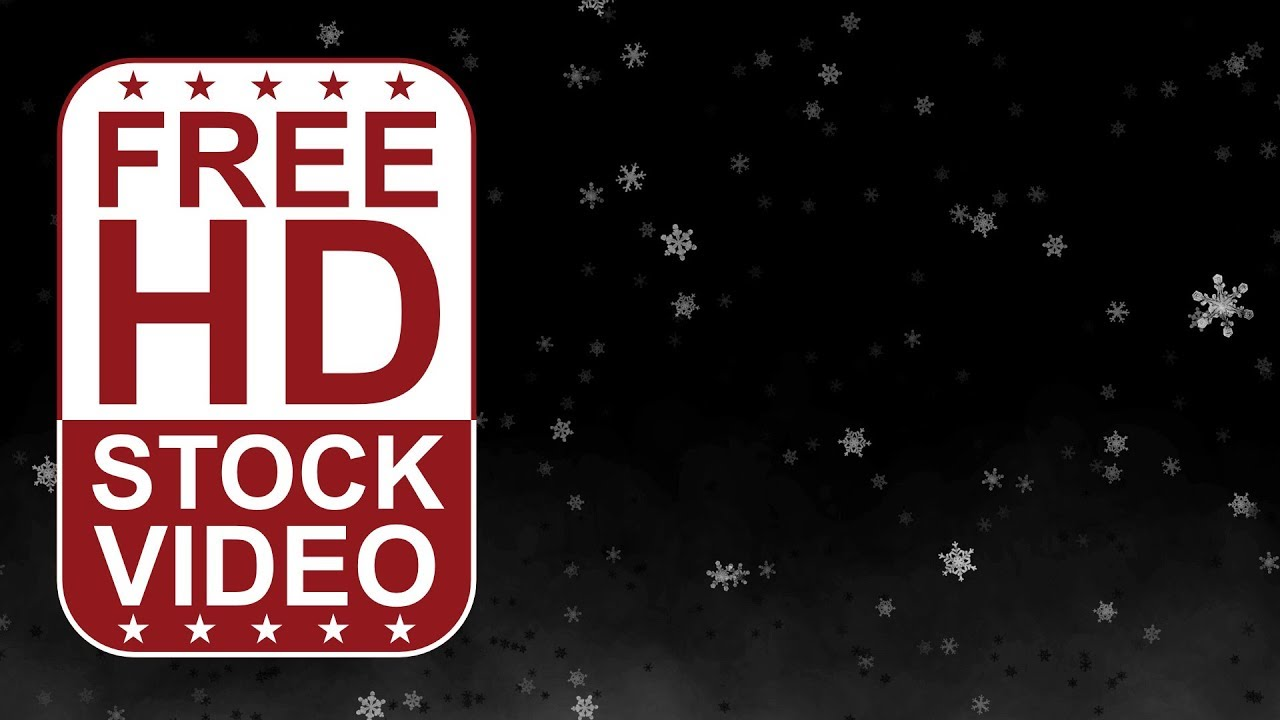 free hd video backgrounds � abstract animated snowflakes