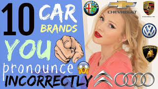 10 car brand names YOU pronounce WRONG! | How to Pronounce Car Brands