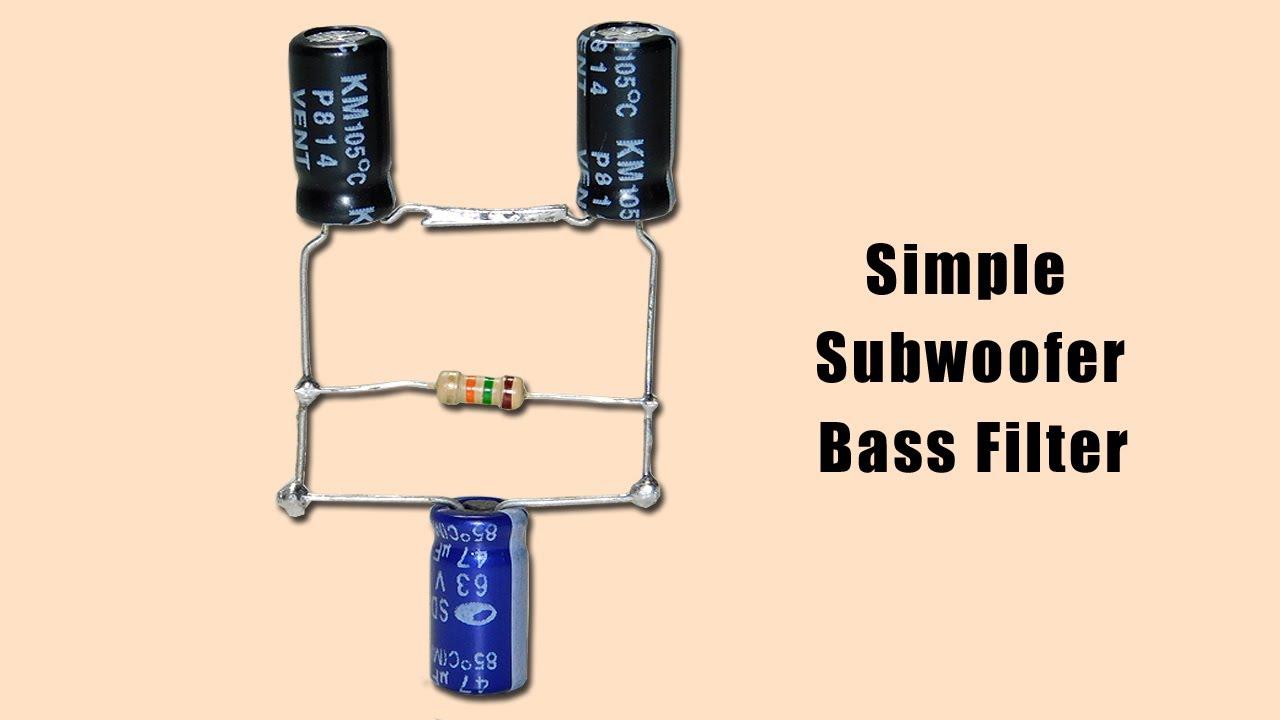 Simple Subwoofer Bass Filter Circuit High Bass - YouTube
