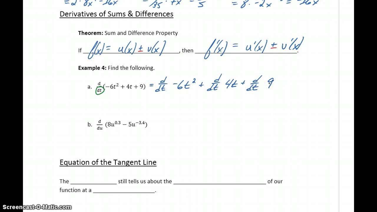 differentiation formulas pdf for class 12