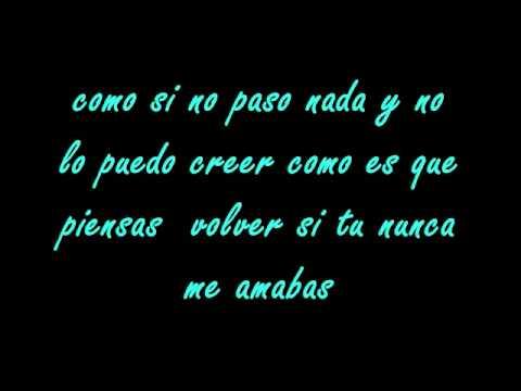 Rigo Luna-Nunca Lyrics