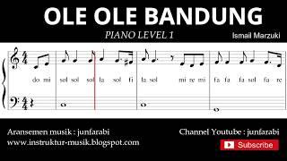 not balok ole ole bandung - piano level 1 - lagu daerah jawa barat / sunda - do re mi / solmisasi