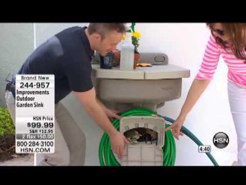 improvements outdoor garden sink