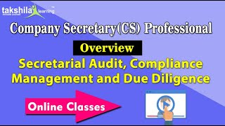 Secretarial Audit Compliance Management and Due Diligence For CS Professional video lectures