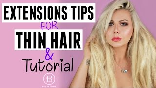 EXTENSIONS FOR THIN / FINE HAIR: TIPS, TRICKS & TUTORIAL - BOMBAY HAIR