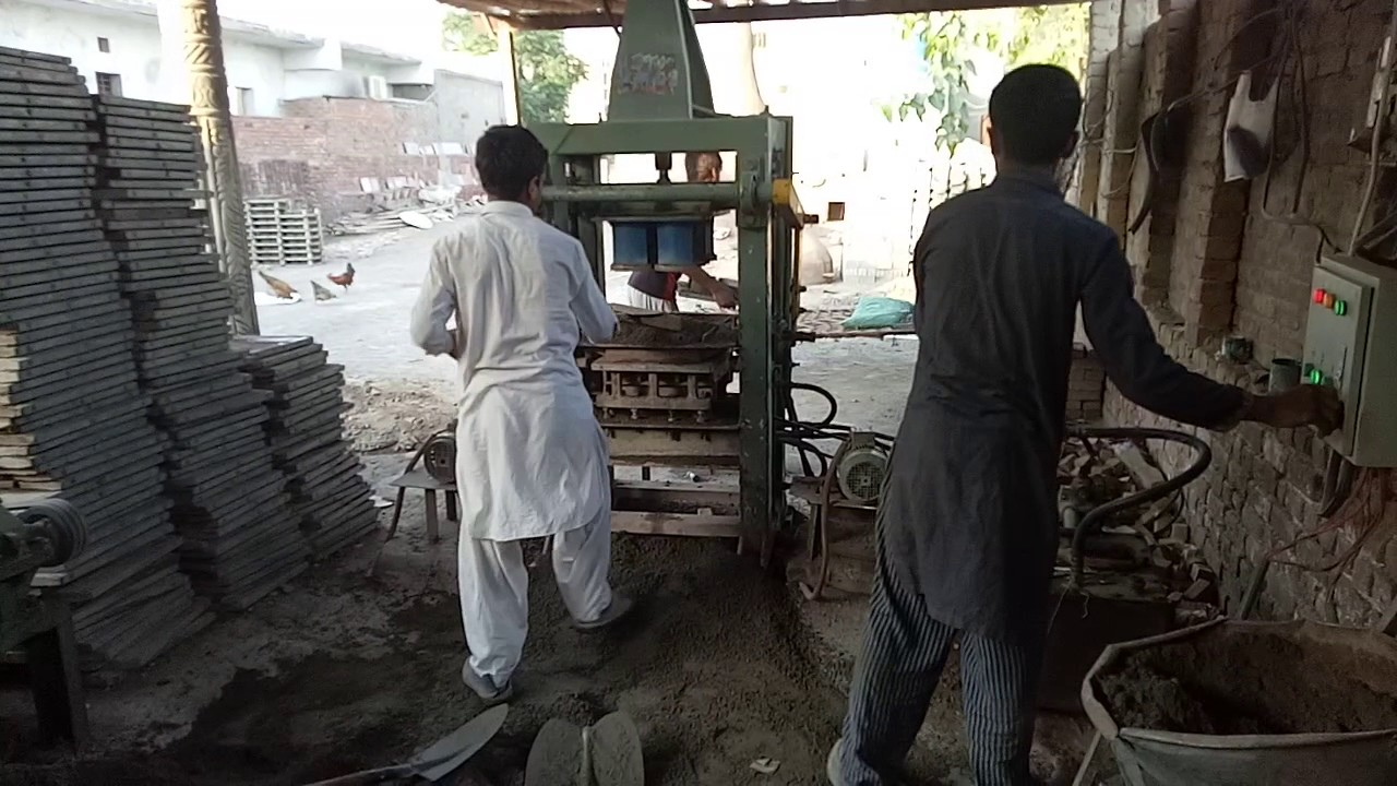 Gsm 6 Manuel block making machine pakistan , tuff tile machine, paver plant,