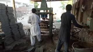 Gsm 6 Manuel block making machine, tuff tile machine, paver plant, brick making machine in pakistan