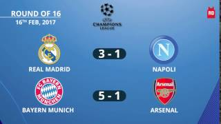 Video #ChampionsLeague  Result-Round Of 16, 16th Feb, 2017 download MP3, 3GP, MP4, WEBM, AVI, FLV September 2017