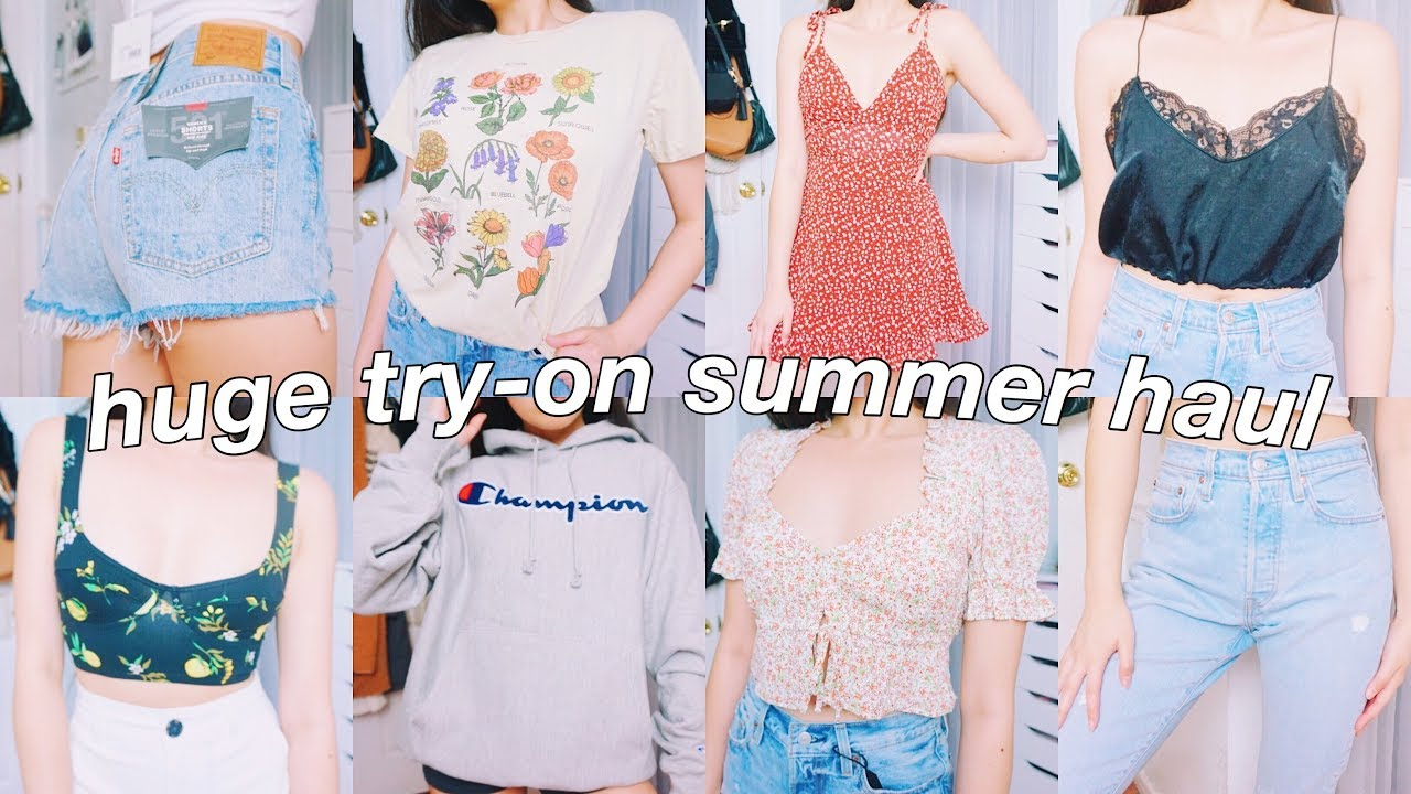 a89abcd8c6 $1000 SUMMER TRY-ON HAUL 2019 | Urban Outfitter, SheIn, Free People,  Lululemon, & more