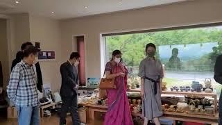 인도대사관 부대사님과 인도문화원장님 양산 방문하여 산인…